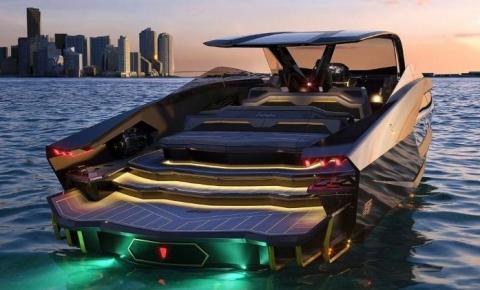 Se unindo à marca italiana de barcos Tecnomar, a Lamborghini teve um iate inspirado no Sián FKP 37 sendo lançado pela fabricante