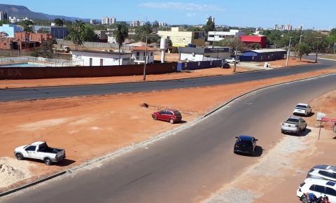 Meio-fio recém-construído na região Norte da Capital é alvo de vandalismo