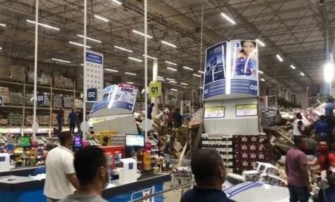 Prateleiras com produtos desabam em supermercado e deixam um morto e feridos em São Luís