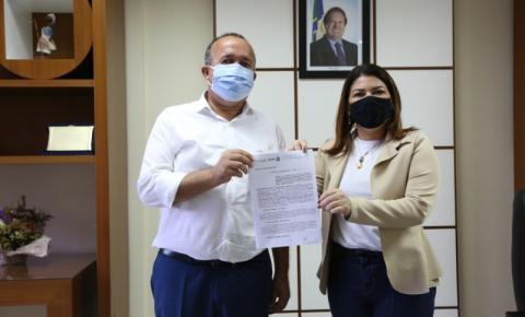Educação Estadual e prefeitura de Palmeirópolis firmam parceria para gestão compartilhada de polo de educação a distância UAB e E-tec