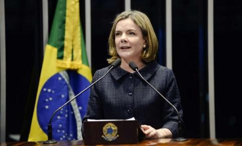 Presidente nacional do PT, Gleisi Hoffmann, é dada como morta em cadastro do SUS