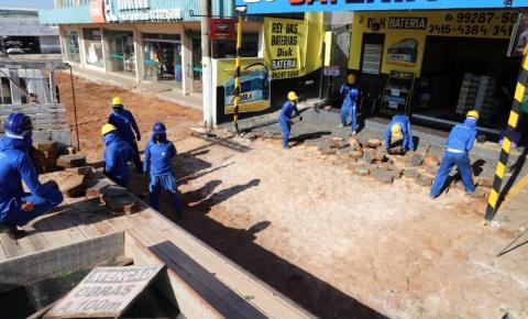 Prefeitura de Araguaína inicia implantação de calçadas com acessibilidade na Av. Cônego João Lima