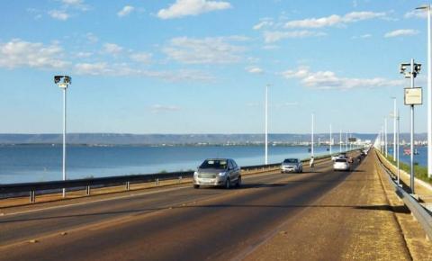 Instalação de radar eletrônico visa reduzir velocidade e acidentes na ponte entre Palmas e Luzimangues