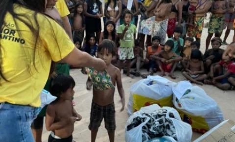 Empresário e Diretor da Assembleia  leva presentes às aldeias indígenas no noroeste do Estado